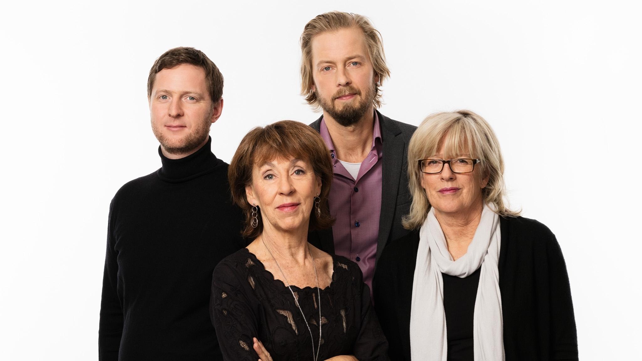 Studio Etts programeldare Anders Jelmin, Li Hellström, Magnus Thorén, Helena Groll P1 Sveriges Radio