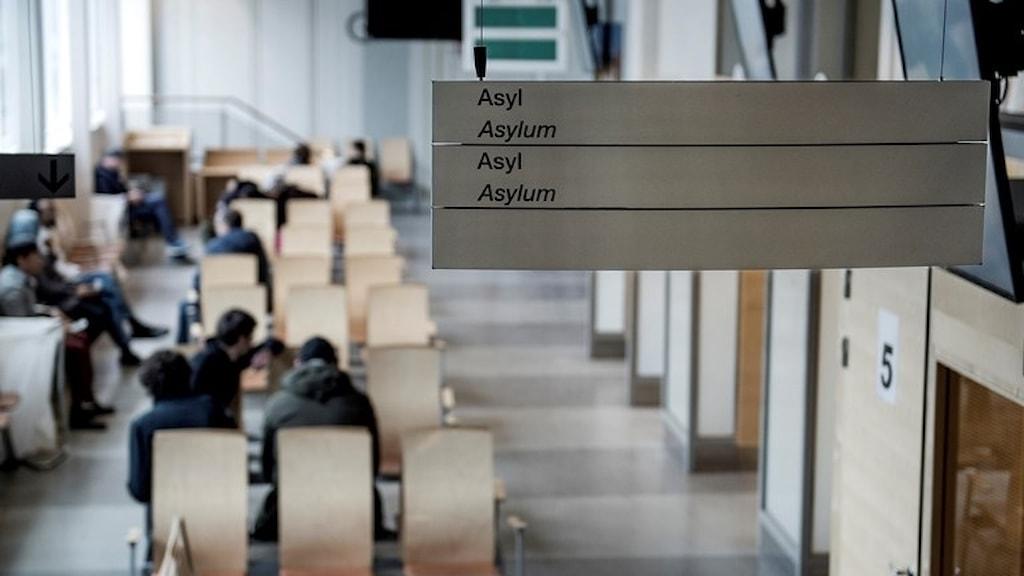 Arkivbild. Väntrum på Migrationsverket.