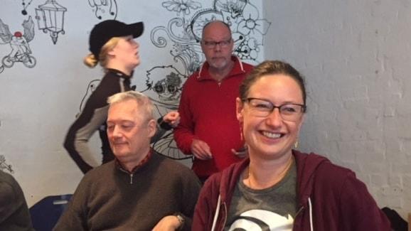 Ninna Hedeager Olsen i Enhedslistens lokal på Nørrebro.