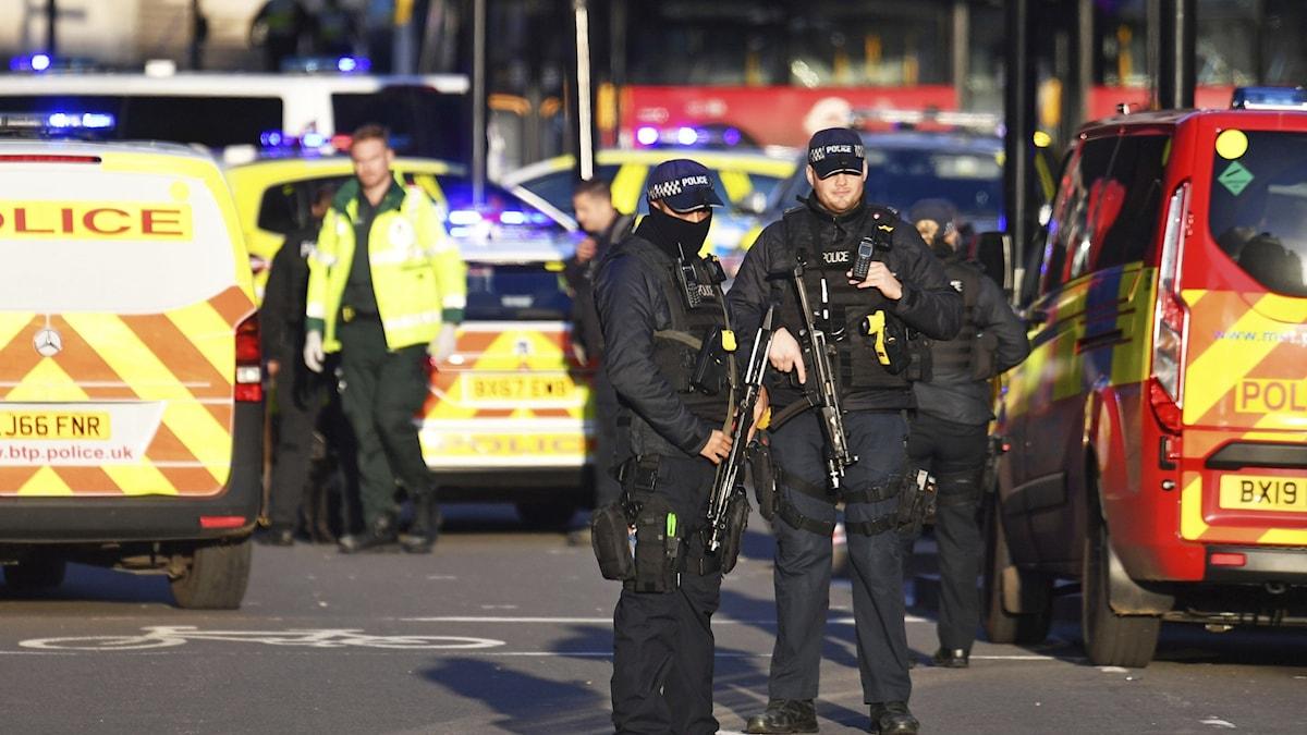 Terrorattentat i London.