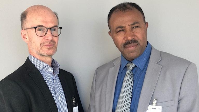 Björn Tunbäck, Reportrar utan gränser, och Aaron Berhane
