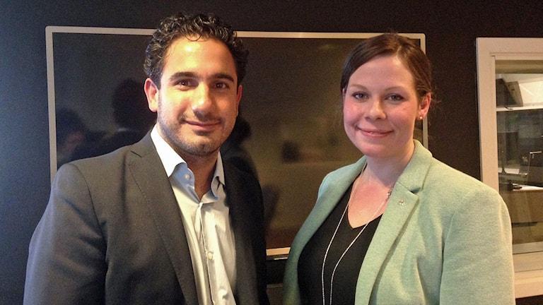 Ardalan Shekarabi, civilminister (S) och Maria Malmer Stenergard, finansutskottet (M).