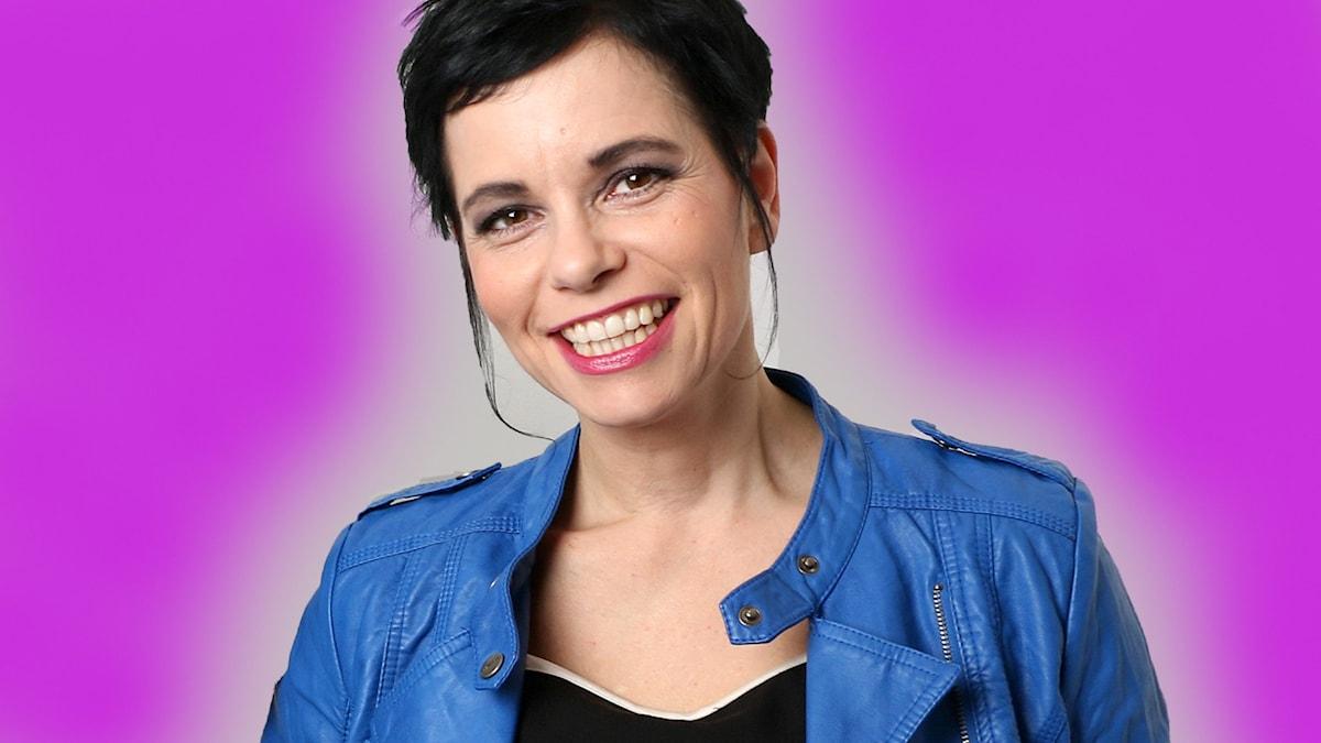 Carolina Norén är Sveriges Radios expertkommentator för Melodfestivalen i P4 och Eurovision sedan 1999. Foto: Ronnie Ritterland / Sveriges Radio