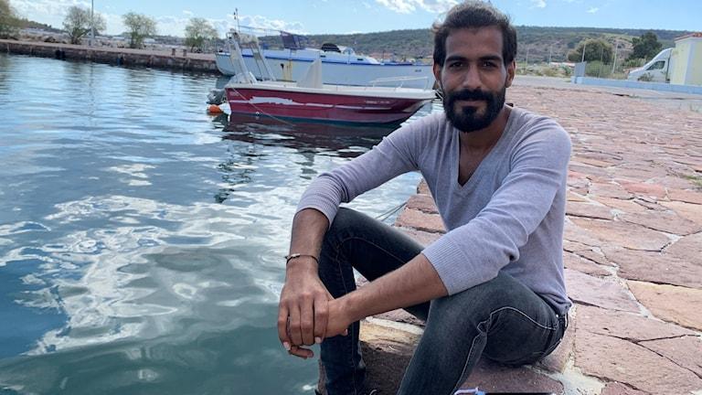 Arkan Ali har varit på Lesbos i ett och ett halvt år.