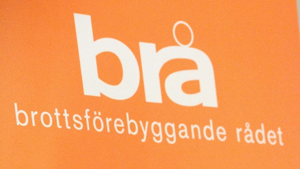 en logotype för Brå. Henrik Montgomery/TT.