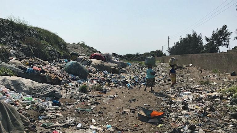 Soptippen i Hulene, Maputo.