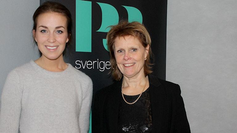 Yvonne Lin, expert på ortorexi och Sofia Sjöström, personlig tränare och bloggare inom hälsa. Foto: Olivia Berntsson/SR