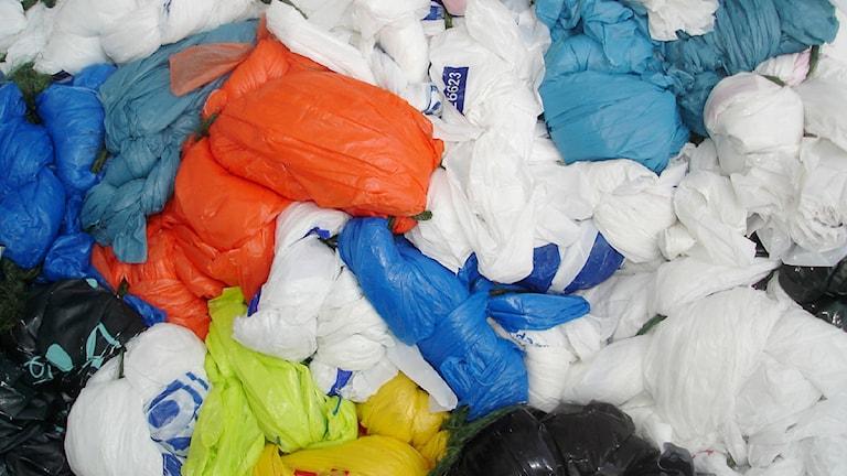 100 miljarder plastpåsar per år har fått EU att reagera. Foto: Wikimedia