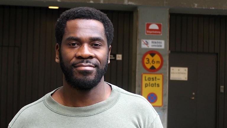Kitimbwa Sabuni är samordnare på Afrosvenskarnas riksförbund. Foto: Palmira Koukkari Mbenga/SR
