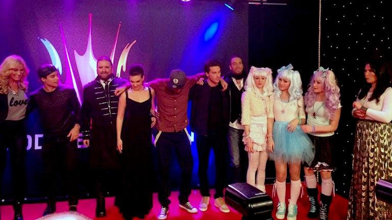 Artisterna som tävlar i deltävling 1 i Melodifestivalen 2015.