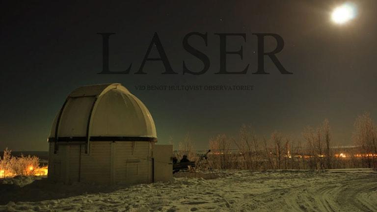 Elevorganisationen LASER ligger bakom teleskopet som invigs ikväll. På bilden syns gymnasiet nu trasiga gamla observatorium Foto: http://rymdgymnasietslaser.blogspot.se/