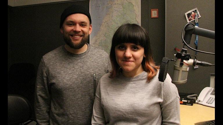 Oskar Hanska och Camila Astorga Díaz. Foto: Sr