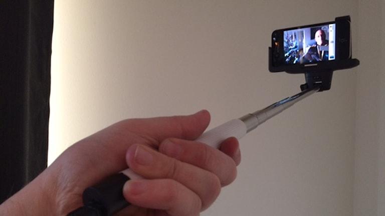 Selfiepinne är ett av årets ord från Språkrådet! Bild: Daniel Klaar/Sveriges Radio