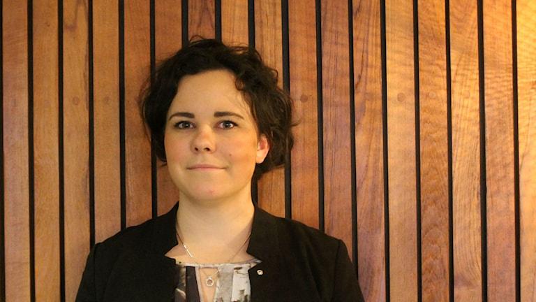 Alexandra Ivanov är ordförande för Fria Moderata Studentförbundet. Foto:Palmira Koukkari Mbenga/SR