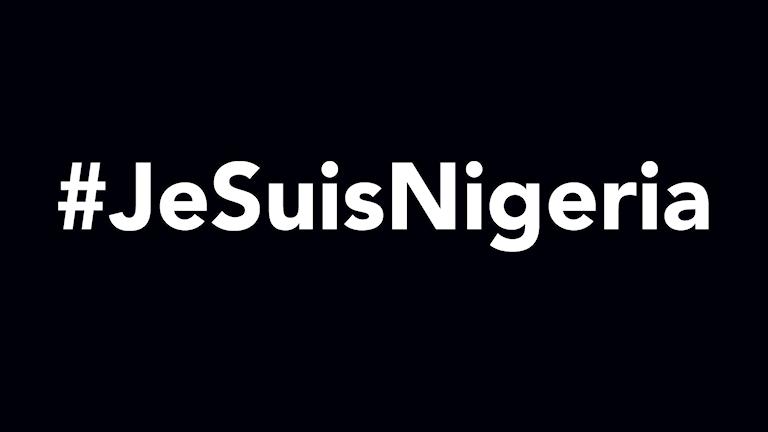 #JeSuisNigeria Foto: Sveriges Radio