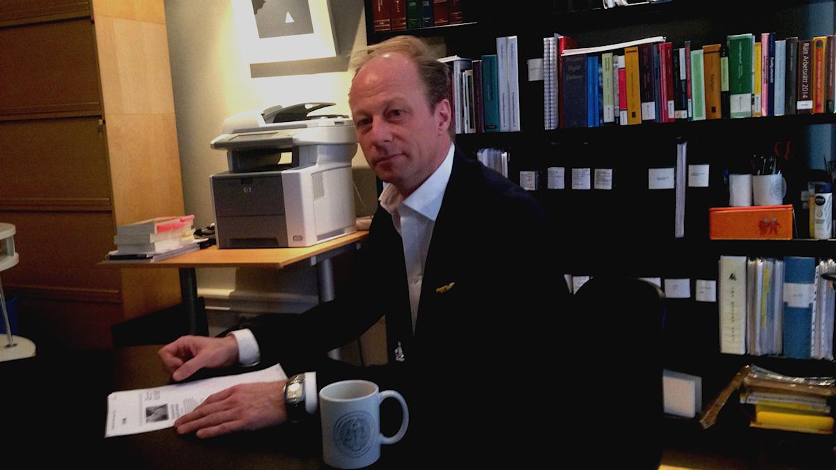 Patrik Fallberg, advokat. Foto: Martina Pierrou/Sveriges Radio