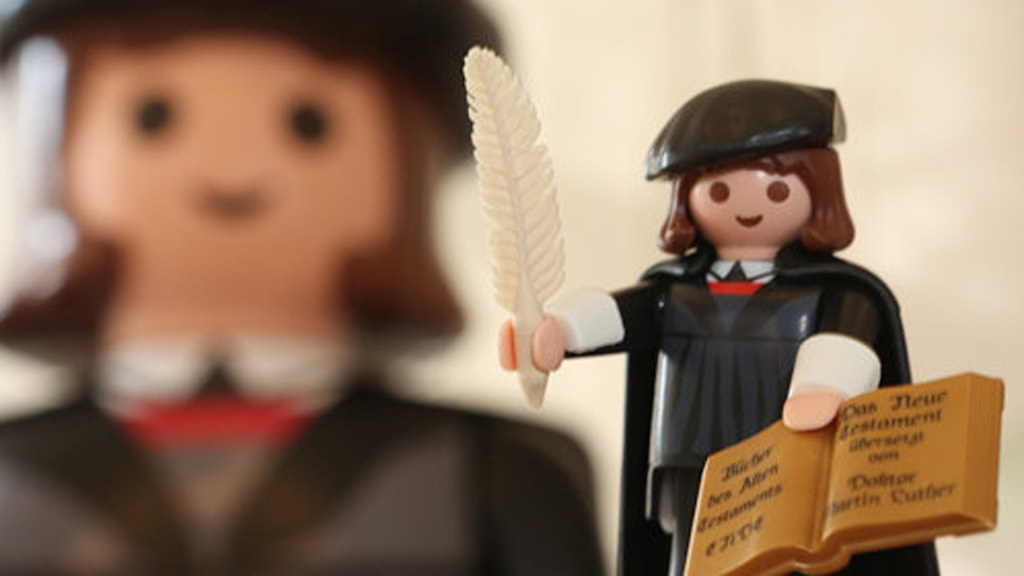 Martin Luther Playmobile Foto: Frank Boxler/Convention and Tourist Centre Nuremberg
