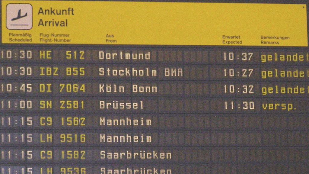 Timetable flygplats