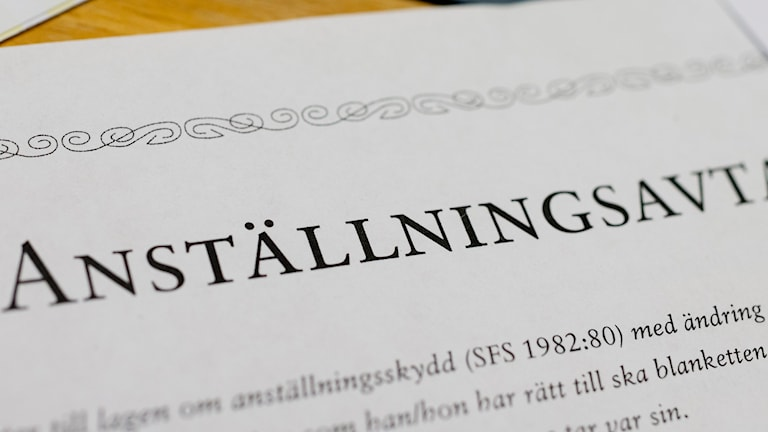 Anställningsavtal Foto: Vilhelm Stokstad/TT