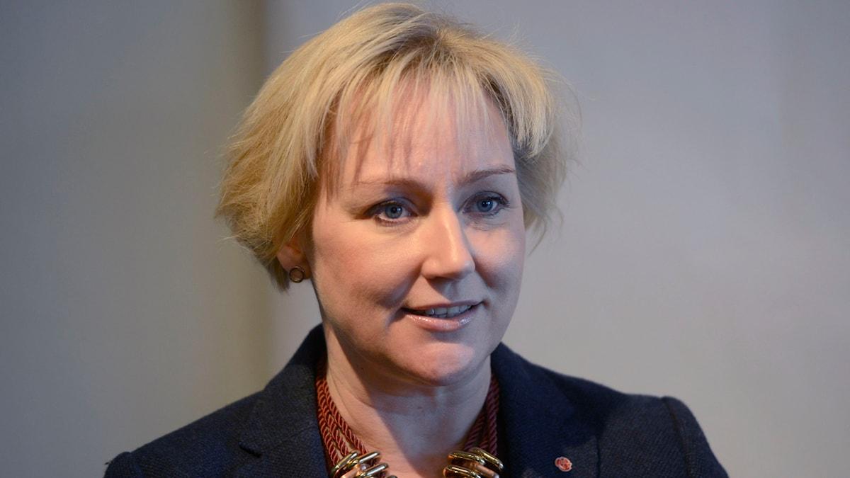Helene Hellmark Knutsson som är minister för högre utbildning och forskning. Foto: Vilhelm Stokstad/TT