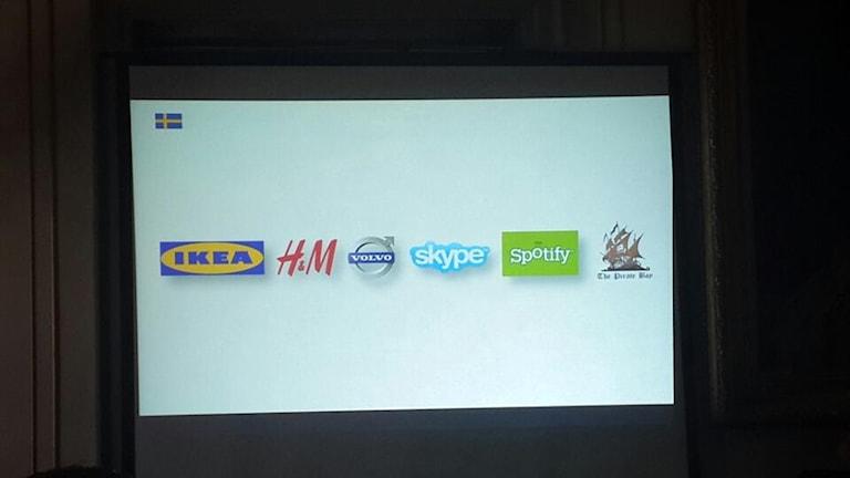 Piratebay tillsammans med andra svenska varumärken