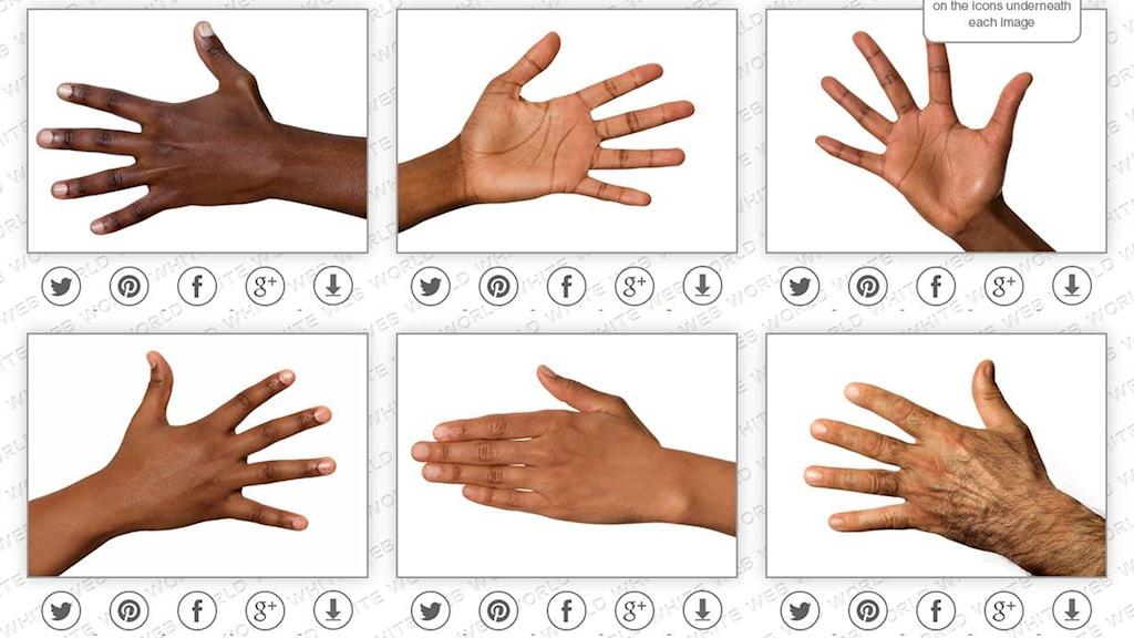 Bilder på händer.