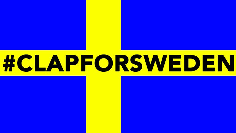 #clapforsweden Foto: Olivia J Berntsson/Sveriges Radio