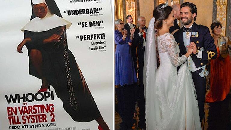 """Låten """"Joyful, Joyful"""" från """"En värsting till syster 2"""" spelades på Sofia och Carl Philips bröllop. Foto: Pressbild/TT"""
