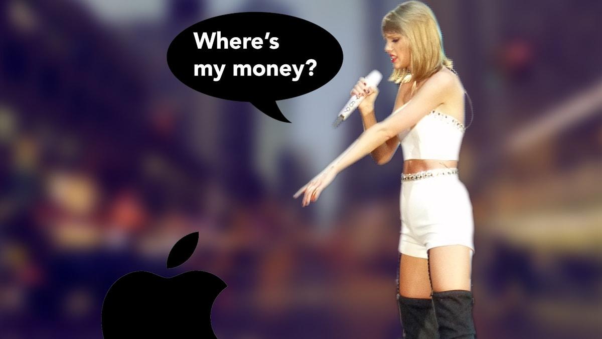 Taylor Swift pressar Apple på pengar.