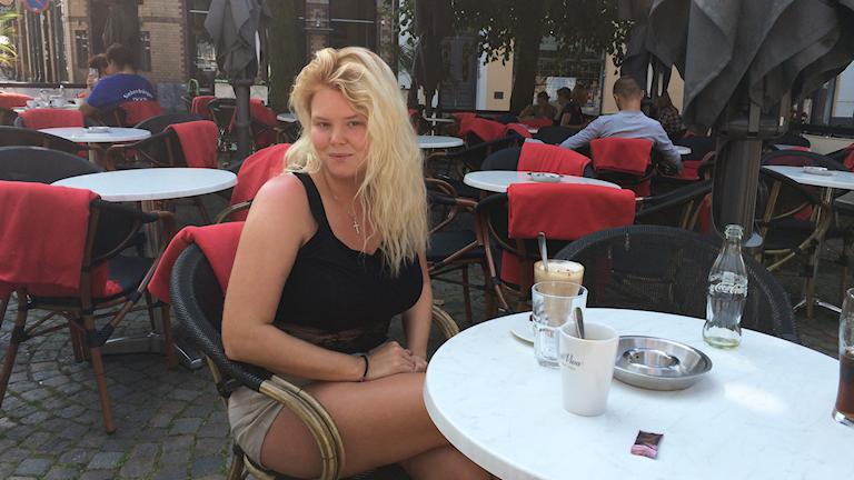 Caitlin Thyrén fick sparken när hennes chef inte längre fick bidrag för att ha henne anställd. Foto: Martina Pierrou/P3 Nyheter