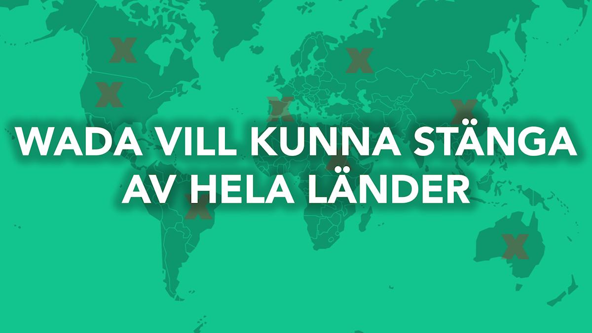Antidopningsbyrån, WADA, vill kunna stänga av hela länder för dopningsbrott. Bild: Aleksander Djordjevic / Sveriges Radio
