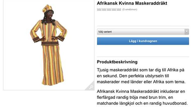 Svartmålad modell på Partykungen.se