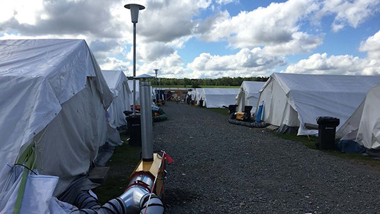 Flyktingmottagning. Foto: Daniela Marquardt/Sveriges Radio