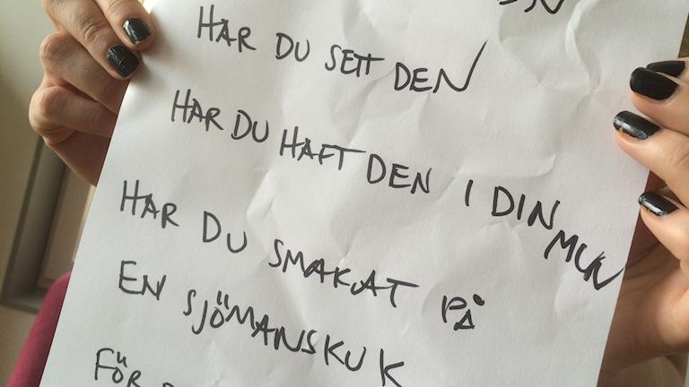 Sång Kalmar. Foto: Sveriges Radio