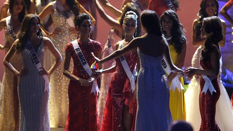 Finalisterna i Miss Universe 2015. Foto: Wilfredo Lee/AP/TT