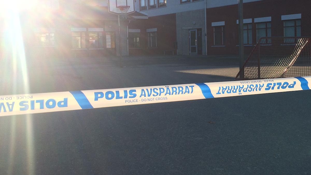 Skolan stängd, trollhättan. Foto: Victor Lenken/Sveriges Radio