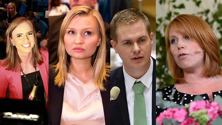 Sara Skyttedal, Ebba Busch Thor, Annie lööf.