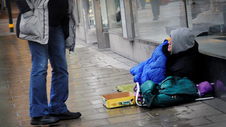 EU-migrant in Stockholm