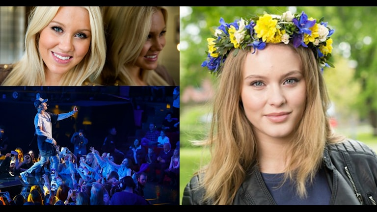 Kollage med isabella Löwengrip, Justin Bieber och Zara Larsson  Foto: Lars Pehrson/TT, Heiko Junge/TT, Sveriges Radio