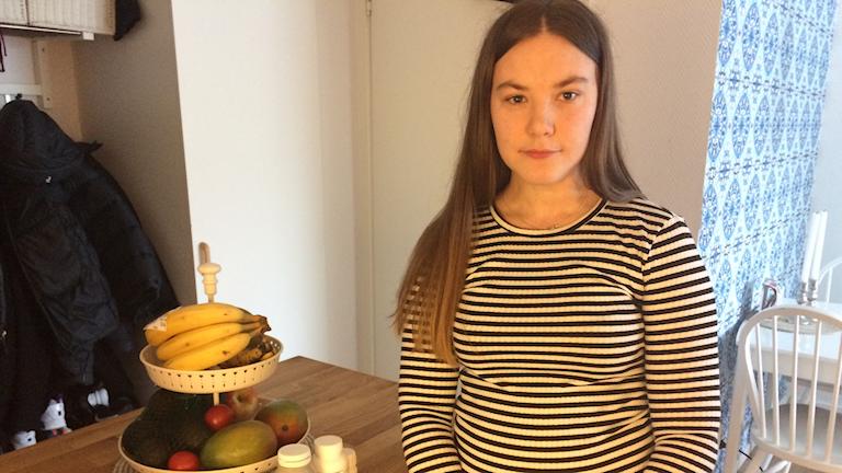 Emelia Johansen är en av de 200 000 som är drabbade av endometrios. Foto: Amanda Darehed/Sveriges Radio