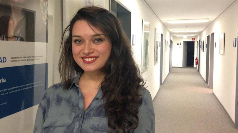 Bild på Ilina Mansour som studerar i Tyskland.
