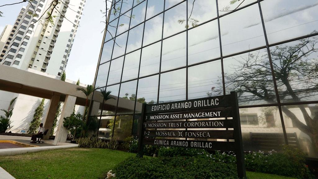Bild på advokatbyrån Mossack Fonseca i Panama City.