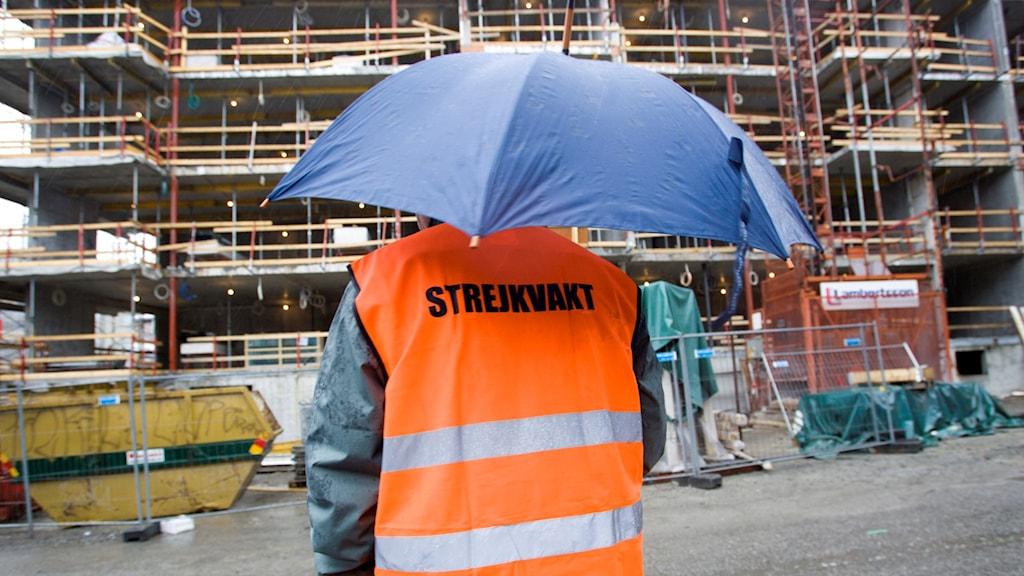 Bild på en strejkvakt.