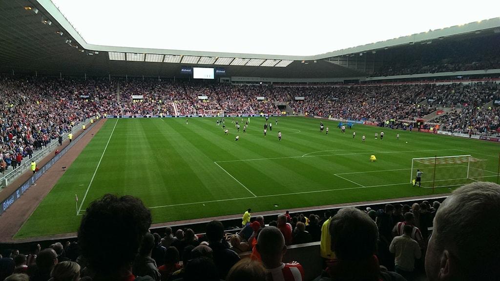 Bild på en arena under en fotbollsmatch.