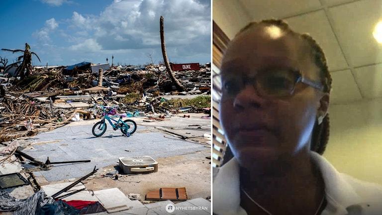 Bild från Bahamas och bild på Nella.