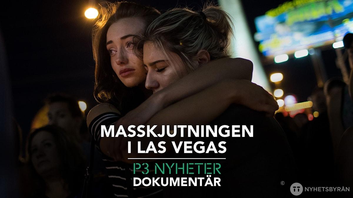 Bild på två tjejer som kramas på en minnesstund
