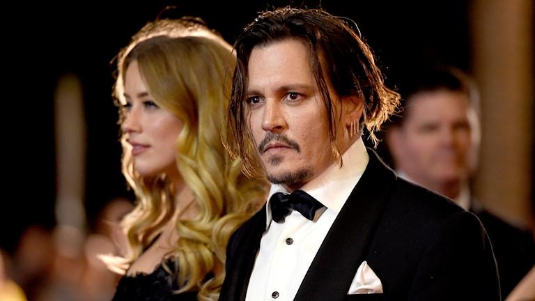 Bild på Amber Heard och Johnny Depp