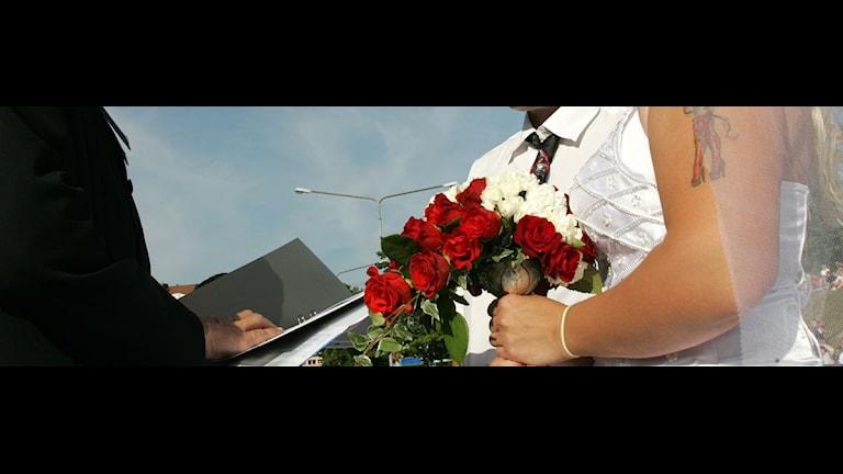 Serien på SVT Flow går ut på att folk gifter sig utan att ha träffats förut. Foto: Peter Arwidi/Scanpix