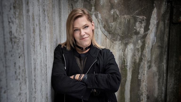 Skådespelaren och hbtq-aktivisten Saga Becker.