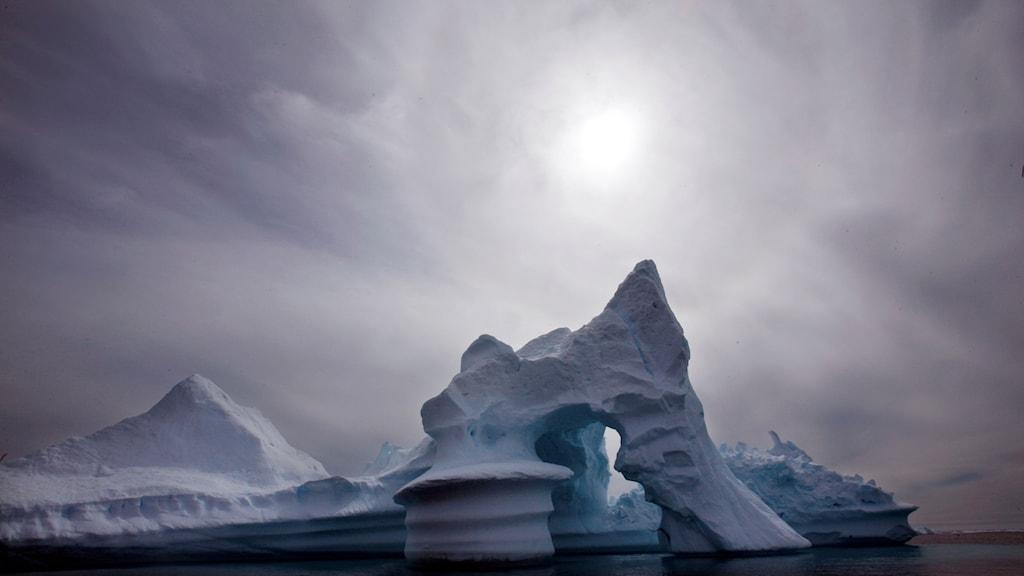 Bild på ett smältande isberg